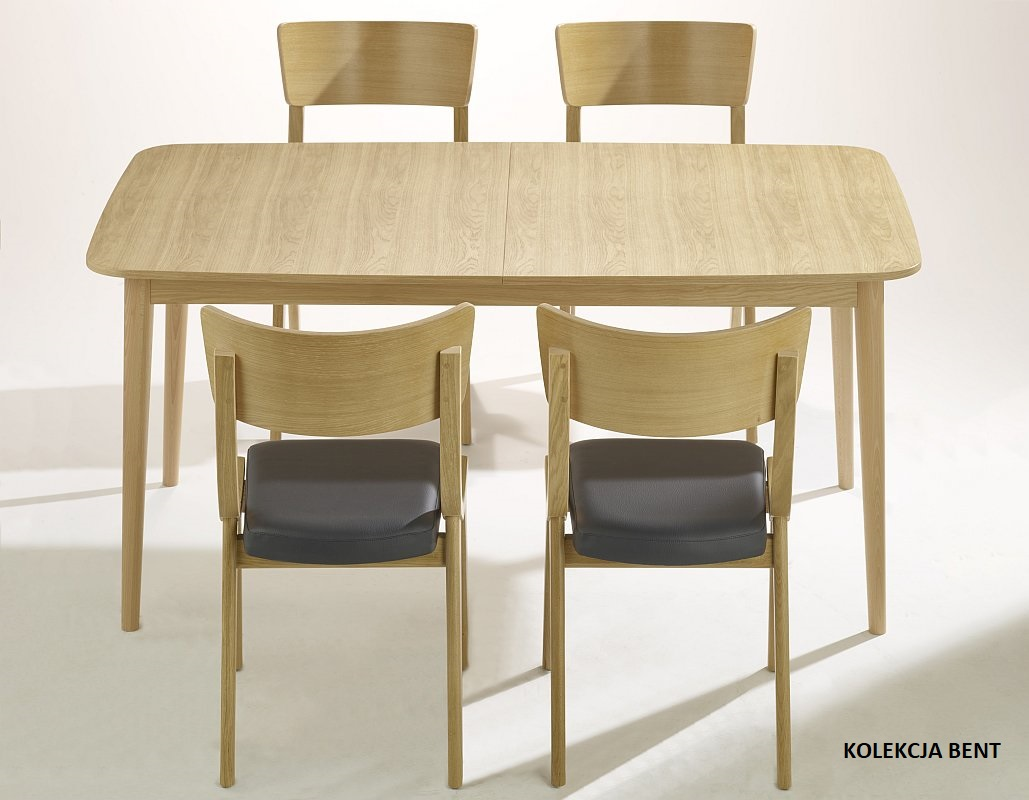 Krzesła dębowe BENT do kuchni