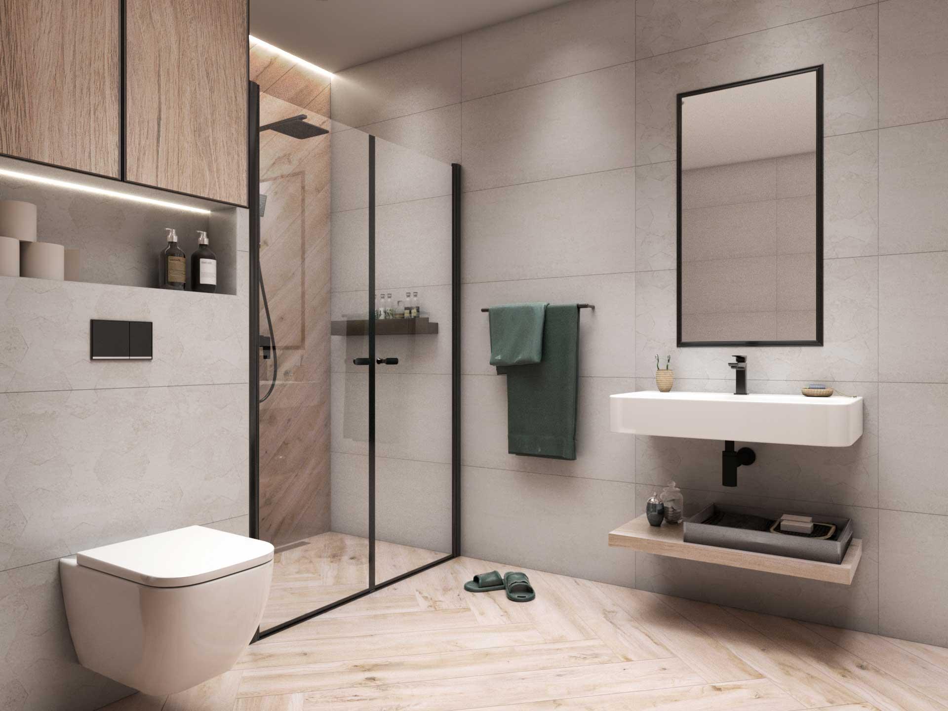 usługi projektowania łazienki