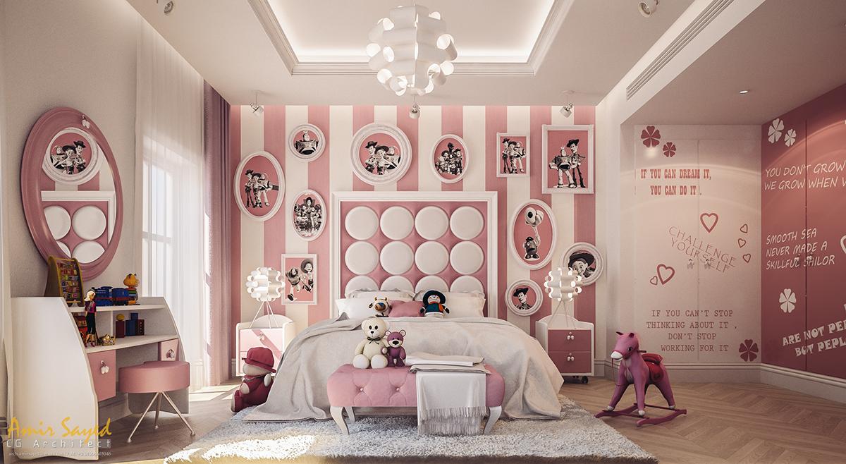 stylowy pokój dla dziewczynki