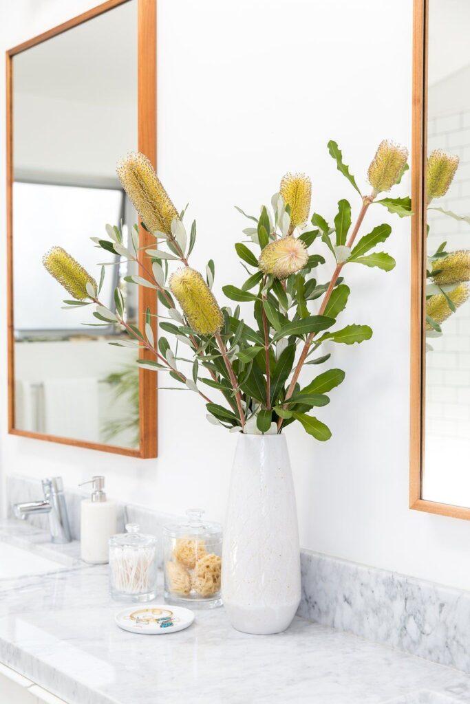 cięte kwiaty do łazienki